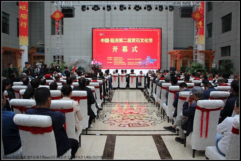 2020中国・临洮第二届赏石文化节25日盛大开幕.临洮县委书记石琳宣布开幕