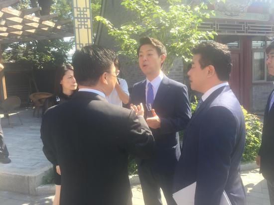韩国议员金瑛豪现身盘古智库