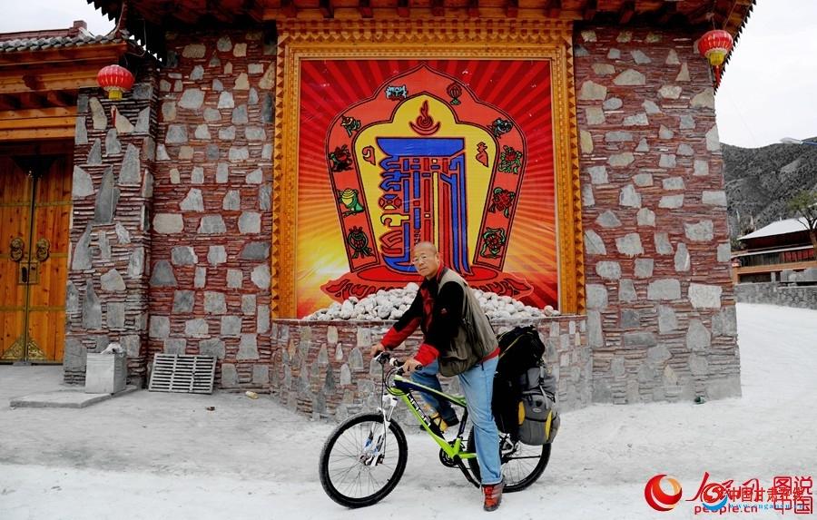 骑行伙伴HASA自行车 梁剑十天独自重走红军八十年前过草地进入长征路线甘肃